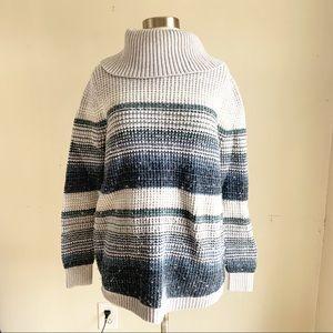 LL Bean Striped Turtleneck sweater